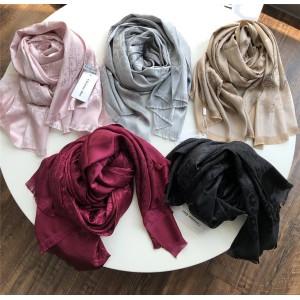 Dior代购正品官网迪奥围巾新款双面LOGO印花真丝羊绒围巾