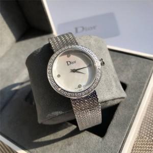Dior/迪奥官网女士手表镶嵌钻石LA MINI D DE DIOR SATINE腕表CD040110