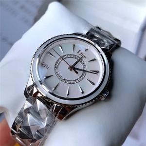 DIOR迪奥中文官网原单新款女士石英手表镶钻石VIII系列腕表女表