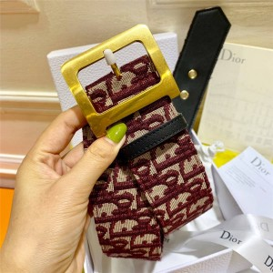 dior上海专卖店迪奥中国官网女士皮带OBLIQUE 5.0CM腰带