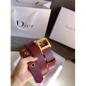 迪奥dior官网女士高仿皮带新款真皮DIORQUAKE D扣3.5CM腰带