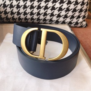 dior上海专卖店迪奥女士高仿皮带新款30 MONTAIGNE CD扣4.0CM腰带