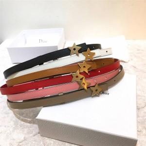 dior官方网站迪奥女士原单皮带新款平纹牛皮五金星星20毫米腰带