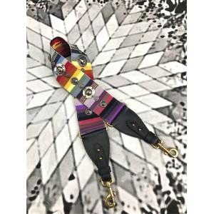 dior上海专卖店正品迪奥新款复古五金饰章罗马系列彩虹肩带
