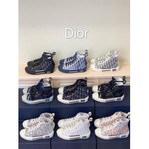 迪奥官网B23 Dior Oblique奢侈品寄卖店高帮运动鞋板鞋平底休闲鞋3SH118