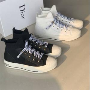 迪奥中国官网WALK'N'DIOR世界顶级奢侈品中高筒跑鞋袜子鞋板鞋KCK231