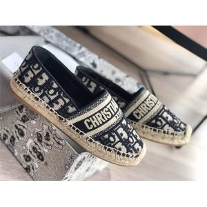 dior法国官网迪奥高仿女鞋新款OBLIQUE印花GRANVILLE便鞋渔夫鞋KDB585