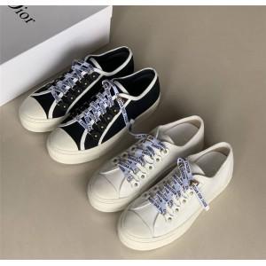 迪奥官网旗舰店原单女鞋新款WALK'N'DIOR运动鞋帆布鞋板鞋KCK177