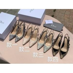 dior正品查询迪奥官网奢侈品购物网站J'ADIOR 刺绣蝴蝶结凉鞋网鞋高跟鞋