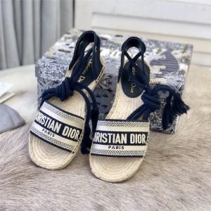 dior防伪码查询迪奥官网国际奢侈品牌Granville 系带渔夫凉鞋KCQ348