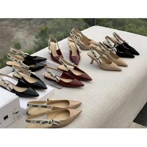 dior香港官网迪奥新款正品女鞋漆皮J'ADIOR 芭蕾舞平底鞋/高跟鞋