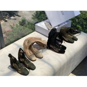 迪奥dior官网原单新款女鞋网面镂空NAUGHTILY-D 及踝靴高筒长靴KDI492SUR