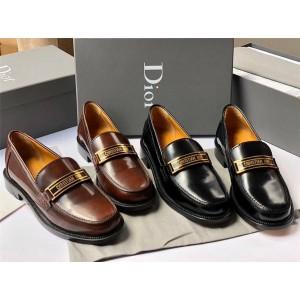 dior美国官网迪奥新款代购女鞋光面牛皮女士皮鞋CODE 乐福鞋KCB633