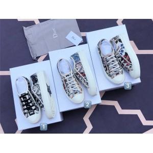 dior中国官网迪奥原单多色棉质 Rosa Mutabilis 刺绣WALK'N'DIOR 运动鞋
