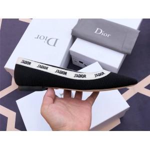 dior官网扫码迪奥正品女鞋科技面料刺绣J'ADIOR 芭蕾平底鞋KCB486