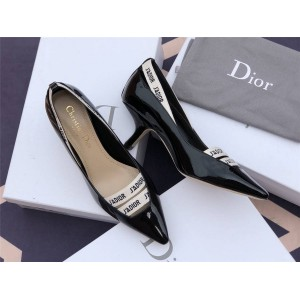 dior欧洲官网迪奥代购新款女鞋漆皮/布面J'ADIOR 高跟鞋KCP305