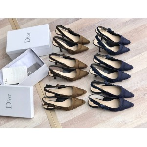 dior正品查询迪奥官网女鞋新款迷彩系列J'ADIOR平底鞋中跟高跟鞋