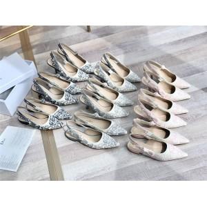 dior香港官网价格查询迪奥原单女鞋刺绣J'ADIOR系列平底鞋小猫跟高跟鞋