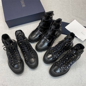 dior官方网迪奥原单Christian克里斯汀男士高帮休闲靴短靴及踝靴