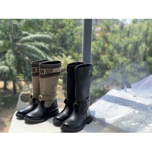 DIOR迪奥奢侈品网购原单女靴高筒中长靴D-MAJOR 靴子工装靴KCI611