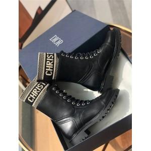 dior美国官网迪奥代购女靴D-MAJOR 及踝靴系带马丁短靴KDI631