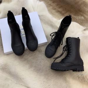dior法国官网迪奥原单女靴女士贝壳头DIORIRON 及踝靴马丁靴KDI647
