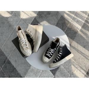 Dior x Converse 1970s迪奥匡威官网代购正品联名情侣款高帮板鞋