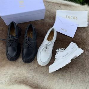 dior官方网站迪奥正品女鞋厚底增高真皮WALKER 船鞋KCB637