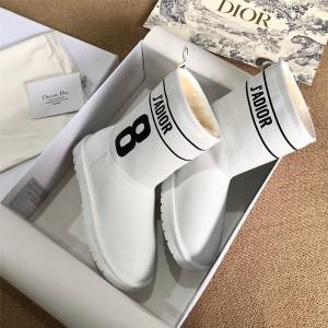 dior中文官网迪奥原单新款女靴真皮保暖J'ADIOR雪地靴短靴