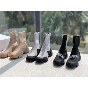 dior上海专卖店迪奥官网新款女靴科技面料D-CONNECT袜子靴短靴