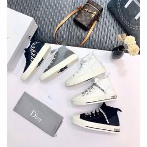 DIOR迪奥中文官网原单女士帆布袜子鞋WALK'N'DIOR 运动鞋KCK231