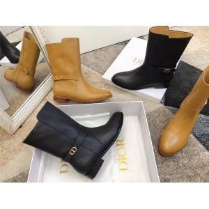 dior官网扫码迪奥代购新款女靴CD扣EMPREINTE 短靴