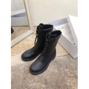 迪奥官网代购正品新款女士前拉链真皮女靴diorunit短靴