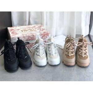 迪奥官网原单专柜女鞋皮毛一体D-CONNECT DIORAURA运动鞋