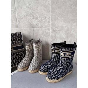 迪奥官网代购女靴天鹅绒CHEZ MOI DIOR GRANVILLE 及踝靴KCI654