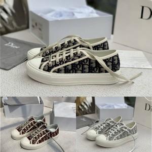 迪奥香港官网代购正品女士Oblique 印花WALK'N'DIOR 运动鞋