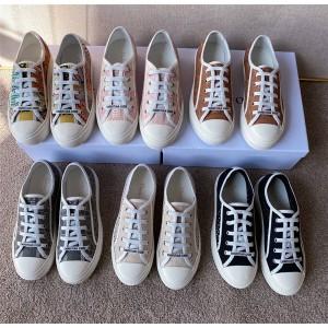 dior官网中国官网迪奥正品新款女士牛仔藤格纹刺绣WALK'N'DIOR 运动鞋