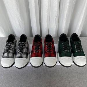 dior官方网站迪奥代购新款女鞋女士帆布格子纹休闲运动鞋