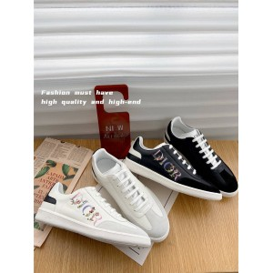 dior鞋子迪奥官网代购男鞋Flowers 标志皮革B01 运动鞋3SN225
