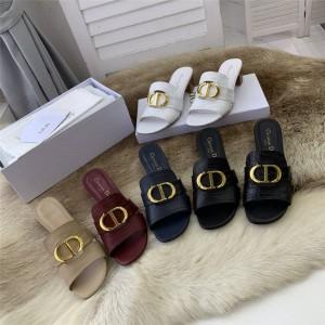 DIOR迪奥原单中文官网高仿奢侈品30 MONTAIGNE 带跟凉拖鞋KCQ270