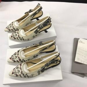 DIOR迪奥官网正品奢侈品商城情人节系列J'ADIOR 露跟芭蕾鞋/高跟鞋