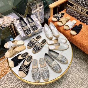 DIOR迪奥官网代购奢侈品论坛女士GRANVILLE渔夫鞋穆勒鞋拖鞋便鞋