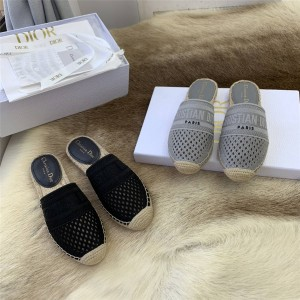 DIOR迪奥官网原单奢侈品代购网镂空GRANVILLE渔夫鞋穆勒鞋