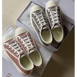 迪奥香港官网正品新款女士藤格纹WALK'N'DIOR 运动鞋