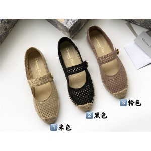 DIOR迪奥美国官网代购CARO 芭蕾平底鞋玛丽珍渔夫鞋KCB675