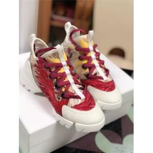 dior官网迪奥女鞋彩色凤凰图案D-CONNECT运动鞋老爹鞋KCK261