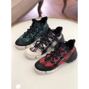 dior官方网站迪奥原单女鞋格子D-CONNECT运动鞋跑鞋老爹鞋KCK222