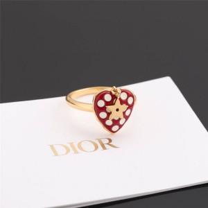 DIOR迪奥香港官网原单七夕限定系列爱心草莓AMOUR 戒指R1001