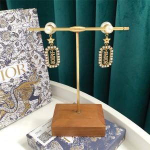 DIOR官网迪奥英国代购J'Adior字母水晶珍珠TRIBALES 耳环E1357