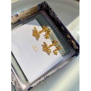 DIOR官网迪奥免税店代购水晶小蜜蜂Petit CD 耳环E1414